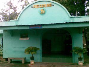 Poskamling di Tamansari, unik bangunannya..