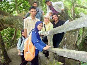 Di bukit Karang Bolong yang terjalin dari pohon-pohon